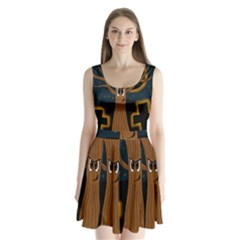 Halloween - Cemetery evil tree Split Back Mini Dress