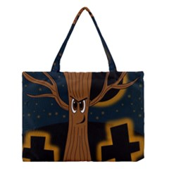 Halloween - Cemetery evil tree Medium Tote Bag