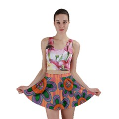 Colorful Floral Dream Mini Skirt