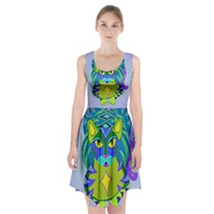 Peacock Tabby Racerback Midi Dress