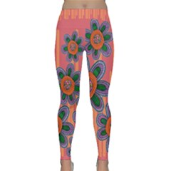 Colorful Floral Dream Yoga Leggings