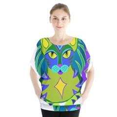 Peacock Tabby  Blouse