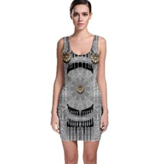 Gold And Silver Is The Way Sleeveless Bodycon Dress