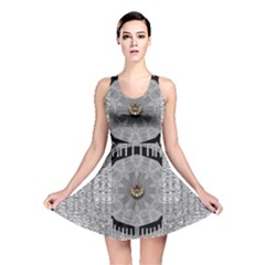 Gold And Silver Is The Way Reversible Skater Dress