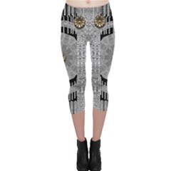 Gold And Silver Is The Way Capri Leggings