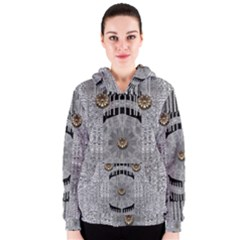 Gold And Silver Is The Way Women s Zipper Hoodie