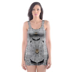 Gold And Silver Is The Way Skater Dress Swimsuit