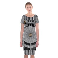 Gold And Silver Is The Way Classic Short Sleeve Midi Dress