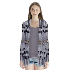 Gold And Silver Is The Way Drape Collar Cardigan
