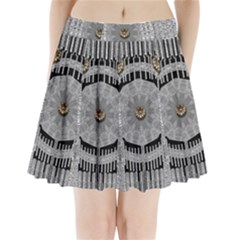 Gold And Silver Is The Way Pleated Mini Skirt