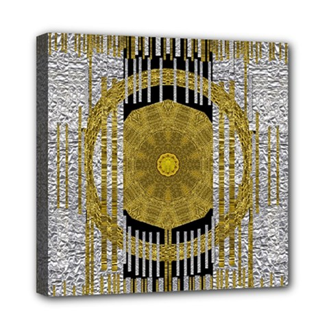 Silver And Gold Is The Way To Luck Mini Canvas 8  X 8
