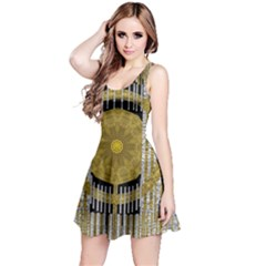 Silver And Gold Is The Way To Luck Reversible Sleeveless Dress