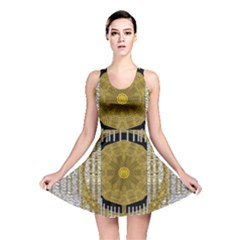 Silver And Gold Is The Way To Luck Reversible Skater Dress