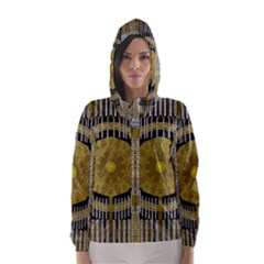 Silver And Gold Is The Way To Luck Hooded Wind Breaker (Women)