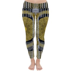 Silver And Gold Is The Way To Luck Winter Leggings