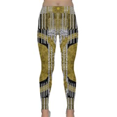 Silver And Gold Is The Way To Luck Yoga Leggings