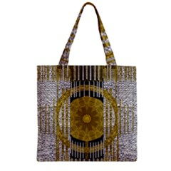 Silver And Gold Is The Way To Luck Zipper Grocery Tote Bag