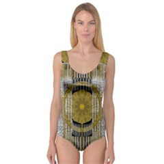 Silver And Gold Is The Way To Luck Princess Tank Leotard