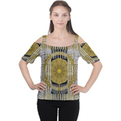 Silver And Gold Is The Way To Luck Women s Cutout Shoulder Tee