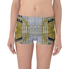 Silver And Gold Is The Way To Luck Boyleg Bikini Bottoms