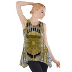 Silver And Gold Is The Way To Luck Side Drop Tank Tunic