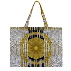 Silver And Gold Is The Way To Luck Large Tote Bag