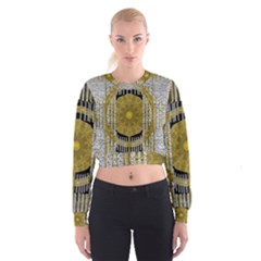 Silver And Gold Is The Way To Luck Women s Cropped Sweatshirt