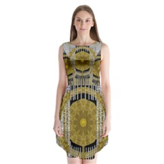 Silver And Gold Is The Way To Luck Sleeveless Chiffon Dress