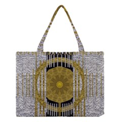 Silver And Gold Is The Way To Luck Medium Tote Bag