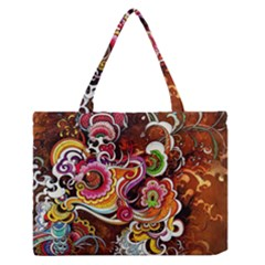Abstract Abstraction Color Bright Medium Zipper Tote Bag