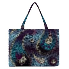 Abstract Collection Romantic Pattern Medium Zipper Tote Bag