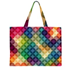 Abstract Colorful Geometric Pattern Large Tote Bag