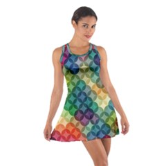 Abstract Colorful Geometric Pattern Cotton Racerback Dress