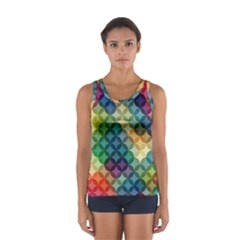 Abstract Colorful Geometric Pattern Women s Sport Tank Top