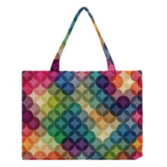 Abstract Colorful Geometric Pattern Medium Tote Bag