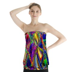 Abstract Digital Art Strapless Top