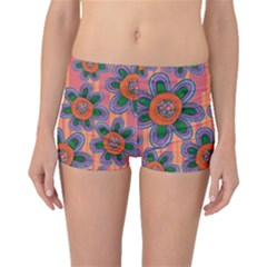 Colorful Floral Dream Boyleg Bikini Bottoms