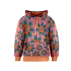 Colorful Floral Dream Kids  Zipper Hoodie