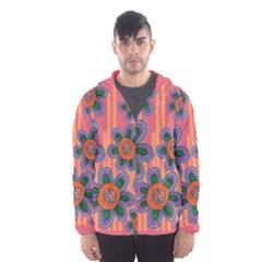 Colorful Floral Dream Hooded Wind Breaker (men)