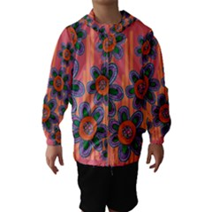 Colorful Floral Dream Hooded Wind Breaker (kids)