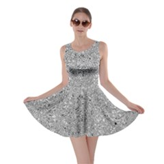 Abstract Flowing And Moving Liquid Metal Skater Dress