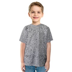 Abstract Flowing And Moving Liquid Metal Kids  Sport Mesh Tee