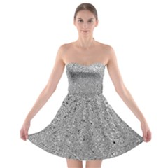Abstract Flowing And Moving Liquid Metal Strapless Bra Top Dress
