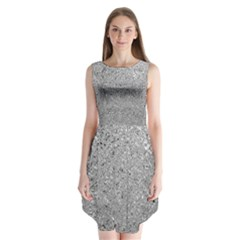 Abstract Flowing And Moving Liquid Metal Sleeveless Chiffon Dress