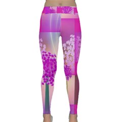 Abstract Forest Yoga Leggings