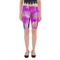 Abstract Forest Yoga Cropped Leggings