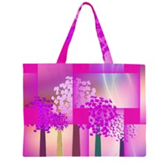 Abstract Forest Large Tote Bag