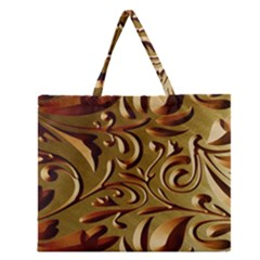 Abstract Gold Art Pattern Zipper Large Tote Bag