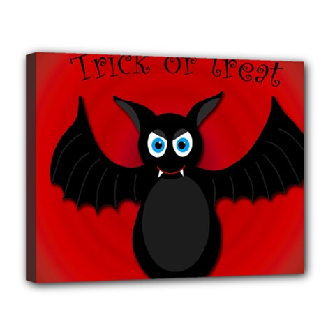 Halloween bat Canvas 14  x 11