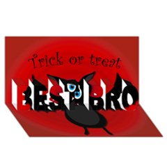 Halloween bat BEST BRO 3D Greeting Card (8x4)
